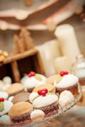 Delicious homemade christmas sweets on the plate Stock Photos