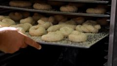 Baking rolls Stock Footage