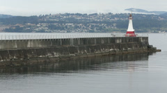 Ogden Point Breakwater, Victoria, BC Stock Footage