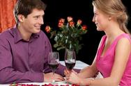 Stock Photo of romantic dinner with wine
