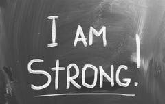 Stock Illustration of i am strong concept