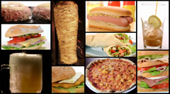 Fast food collage Stock Footage