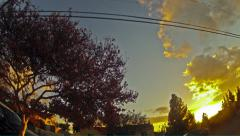 Colorful California Evening (Timelapse) Stock Footage