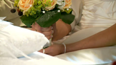 Bride With Bouquet Stock Footage
