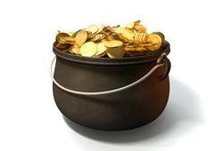 pot of gold - stock illustration