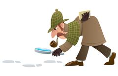 Detective Stock Illustration