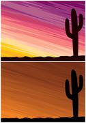 Desert Cactus - stock illustration