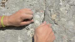rock climbing equipment HD - stock footage