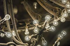 vintage electric light - stock photo