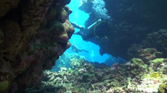 Divers in Malahi Stock Footage