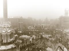 Stock Photo of Kiev Independence Square Retro