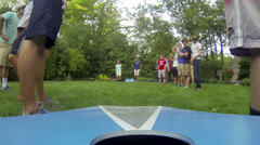 Stock Video Footage of TEENAGERS PLAYING CORNHOLE