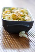 cauliflower baked with egg and cheese - stock photo