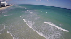 Ocean sand bar Stock Footage