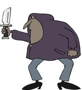 Robber in a hooded sweatshirt Stock Illustration