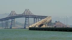 Traffic on bridge Stock Footage