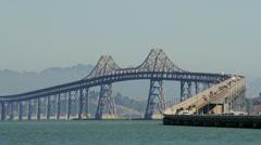 Time lapse traffic on Richmond-San Rafael Bridge Stock Footage
