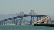 Stock Video Footage of Time lapse traffic on Richmond-San Rafael Bridge