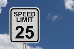Speed limit 25 sign Stock Photos