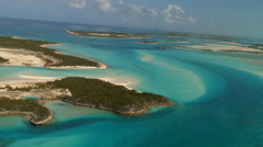 Bahamas Aerials Exumas - stock footage