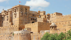 Stock Video Footage of Jaisalmer fort in India. Still shot