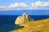Stock Photo of view of the cape burkhan, Olkhon island.