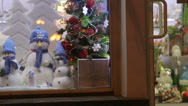 Stock Video Footage of Christmas Gift Shop Window Display