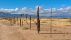 High Desert Fence Row Stock Footage