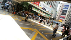 Asian City Streets Crowded Commuters Traffic - stock footage