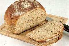 malted wholemeal loaf - stock photo