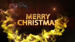 Merry Christmas Text Background Stock Illustration