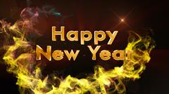 Happy New Year Text Background - stock illustration