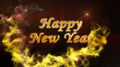 Happy New Year Text Background Stock Illustration