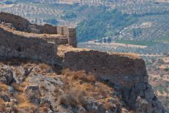 ruins of ancient fortress. - stock photo