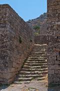 Steps between the walls. Stock Photos