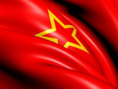 red army flag - stock illustration