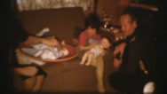 Stock Video Footage of 1950's & 60's  vintage, Christmas morning