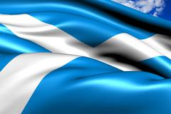 flag of scotland - stock illustration