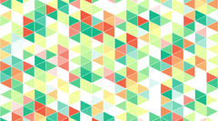 Colorful triangles geometric background loop Stock Footage