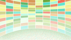 Colorful rectangles loopable background Stock Footage