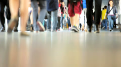 Legs Commuters Asian Streets Busy - stock footage