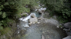Small stream up in the Italian Swiss Alps near Locarno. Stock Footage
