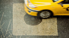 Manhole in NYC Stock Footage