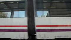 Arriving barcelona train Stock Footage
