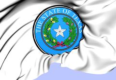 state seal of texas - stock illustration
