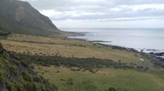 Timelapse of a rugged coastline Stock Footage