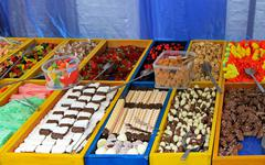 Sweets stall Stock Photos