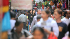 Foot Traffic Busy Capital City Slow Motion - stock footage