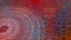 Abstract Chinese pattern - seamless looping Stock Footage