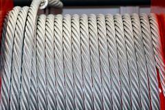 winch coil - stock photo